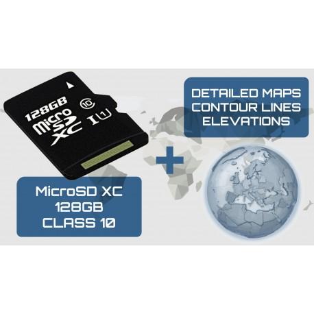 MicrosSD + Mapas + Elevaciones